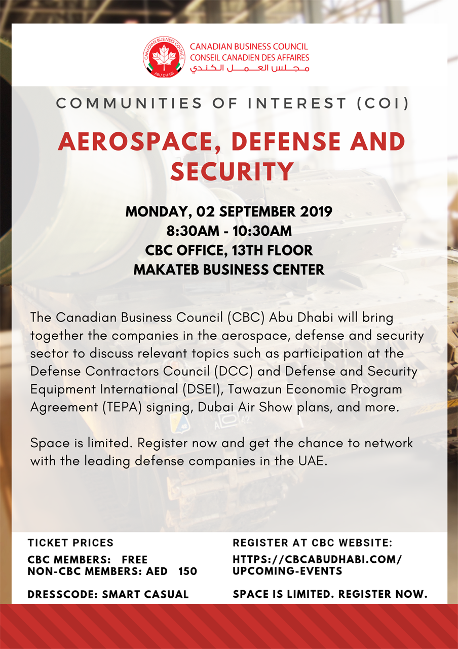 Canadian Business Council Abu Dhabi - Communities of