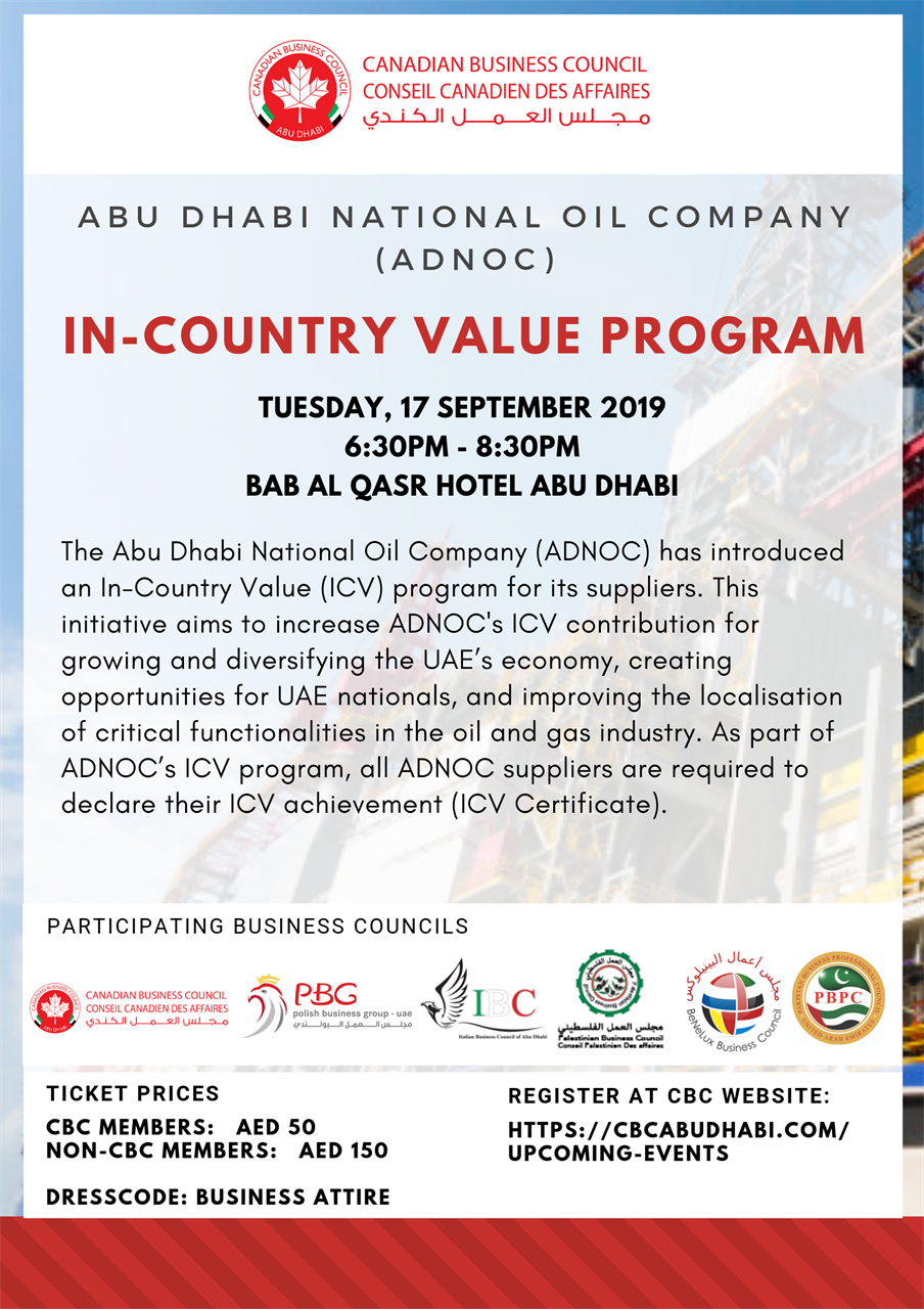 Canadian Business Council Abu Dhabi - Upcoming Events